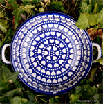 Bunzlau Castle, Round ovendish Blue Valentine 1450 ml. 2239-375E