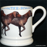 Emma Bridgewater. Pointer ½ pint mug
