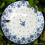 Bunzlau Castle. diep bord. plate deep Blue White Love 1026-2328