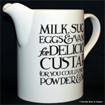 Emma Bridgewater. straight sided jug black toast