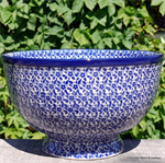 Bunzlau Castle. Bowl on Foot  Indigo 2014-2396