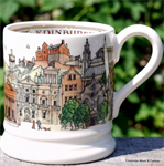 emma bridgewater. cities of dreams ½ pint mug Edinburgh