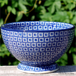 Bunzlau Castle. Bowl on Foot Blue Diamond 1206-2253