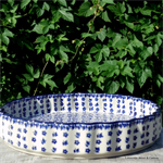 bunzlau castle pie dish with ribbed edges Indigo 1637-2396