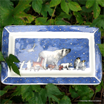 Winter Animals medium oblong plate, Emma Bridgewater