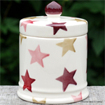 emma bridgewater. small lidded candle Pink & Gold Stars