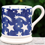 Emma Bridgewater. BLue Shooting Star ½ pint mug