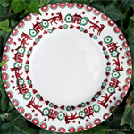 Emma Bridgewater sale Red & Green 8½ Plate