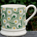 Emma Bridgewater mokken. ½ pint mug Daisy Light Green