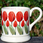 Emma Bridgewater mokken. ½ pint mug Red Tulips
