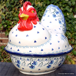 Bunzlau Castle kip. chichen shaped baking dish Daydream 2343-2524