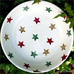Emma Bridgewater. pasta bowl Red Green & Cold Star