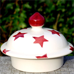 emma bridgewater, Red Star lid for 4 mug teapot