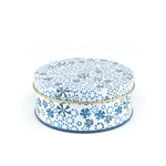 Bunzlau Castle. tin box, 6 coasters Indigo Lace 8605