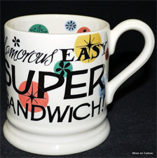 emma bridgewater sale. Super Sandwich ½ pint mug