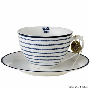Laura Ashley servies, kop en schotel 178677 candy