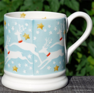 Emma Bridgewater. Reindeer in the Sky ½ pint mug