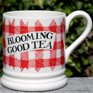 Emma Bridgewater mokken. ½ pint mug Red Gingham