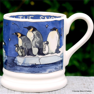 Emma Bridgewater mokken. ½ pint mug Winter Pinguins