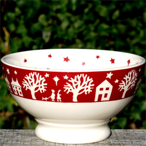 emma bridgewater, french bowl Christmas Town